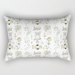 Golden Wedding Tori Beth Rectangular Pillow