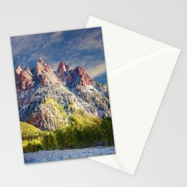 Colorado Rocky Mountain First Snow Maroon Bells Stationery Cards
