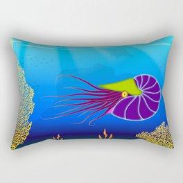 Paper Craft Nautilus Rectangular Pillow