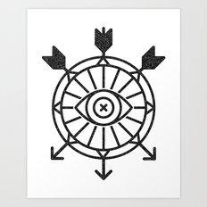 shield of arrows Art Print