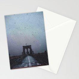 Brooklyn Bridge in the Dark Stationery Cards