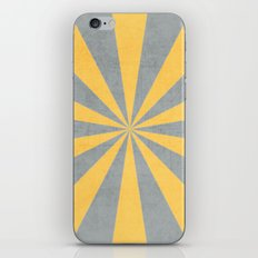 gray and yellow starburst iPhone & iPod Skin