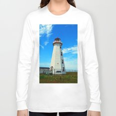 North Cape Lighthouse window wall Long Sleeve T-shirt