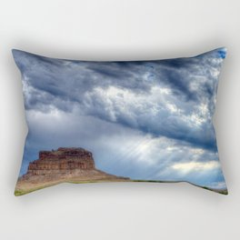 Butte of Chaco Canyon Rectangular Pillow