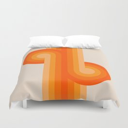 Creamsicle Knots Duvet Cover