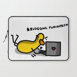 Blogging Furiously   Veronica Nagorny Laptop Sleeve