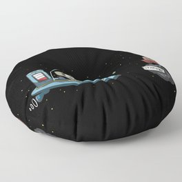 Range anxiety electric spaceship alien Floor Pillow