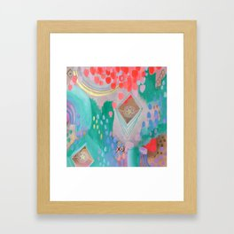 Floral Ascension Framed Art Print