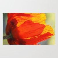 poppy Area & Throw Rugs featuring Poppy by Falko Follert Art-FF77