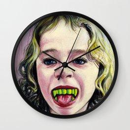 Portrait - Candy Vampire Girl Wall Clock