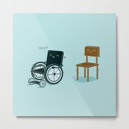 Enabled, Not Disabled Metal Print