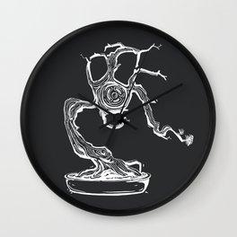 gas mask bonsai white Wall Clock