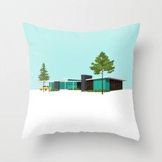 Mid Century House Throw Pillow