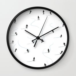 Mountain ski trail Wall Clock
