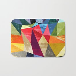 colorful pattern abstract shapes Bath Mat