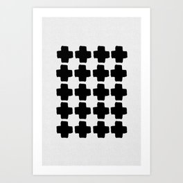 Black and White Abstract III Art Print