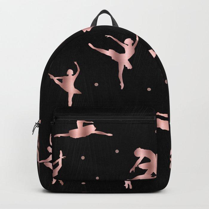 Rose Gold Ballet Positions Backpack