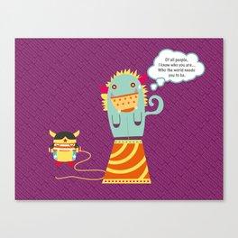 Wonder Monster Canvas Print