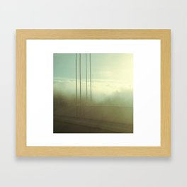 Fog Over San Francisco Bay Bridge Framed Art Print