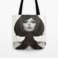 artgerm Tote Bags featuring Pepper Spade by Artgerm™