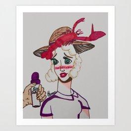 ~ Roasted Sunburned Lobster Girl ~ Art Print