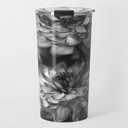 Monochrome Floral Travel Mug