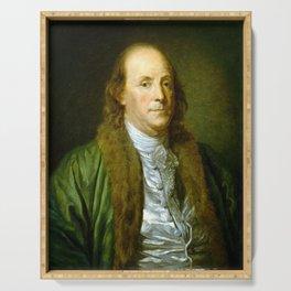 Benjamin Franklin Serving Tray