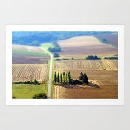 France campagne French Landscape  Art Print