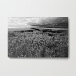 Storm Head Over the Intracoastal Waterway Metal Print