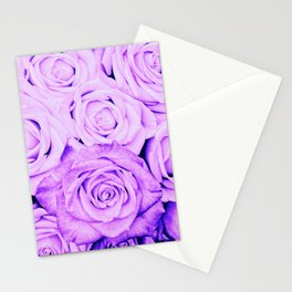 Some people grumble - Floral Ultra Violet Rose Roses Flowers Stationery Cards