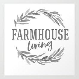 Farmhouse Living Art Print
