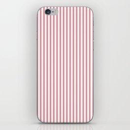 Mattress Ticking Narrow Striped USA Flag Red and White iPhone Skin