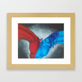 Fire and Water Framed Art Print