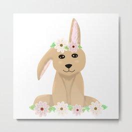 Cute bunny rabbit loaf  Metal Print