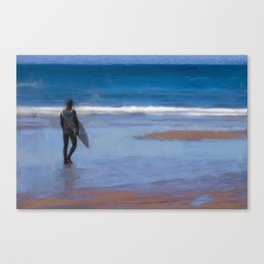 Waiting for the Wave Canvas Print