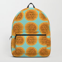 Sun Drawing Gold and Blue Backpack
