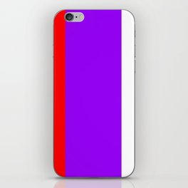 Team Colors 7...red.purple.white iPhone Skin