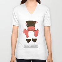 mad hatter V-neck T-shirts featuring Mad Hatter by TurtleGirl