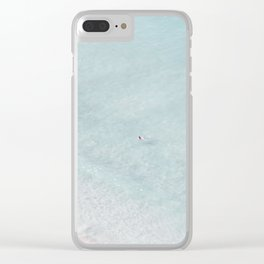 beach - the swimmer Clear iPhone Case