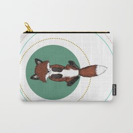 Baby Fox in Rings Carry-All Pouch