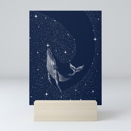 starry whale Mini Art Print