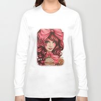 strawberry Long Sleeve T-shirts featuring Strawberry  by Sheena Pike ART