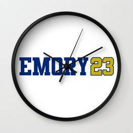 Emory University Class of 2023 Wall Clock