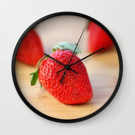 Fresh Strawberries 2018 Wall Clock