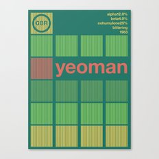 yeoman single hop Canvas Print