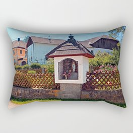 Wayside shrine in summertime | architectural photography Rectangular Pillow