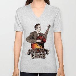 Johnny Cash Unisex V-Neck