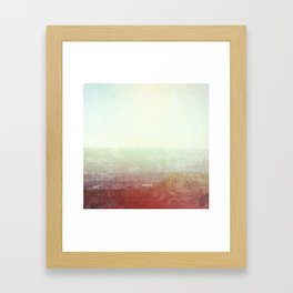 Abstract pastel mint green pink red summer nature landscape Framed Art Print