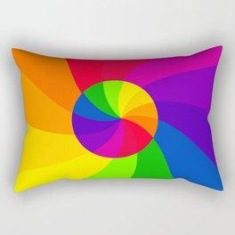 Double color wheel Rectangular Pillow