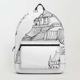 Castle on the cliff . illustration ( https://society6.com/vickonskey/collection ) Backpack